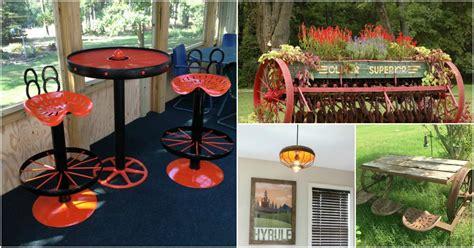 artistic farm equipment repurposing ideas  home