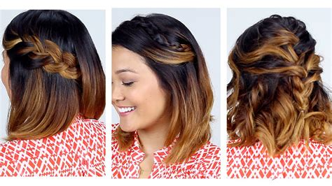 3 Easy Short Hair Hairstyles YouTube
