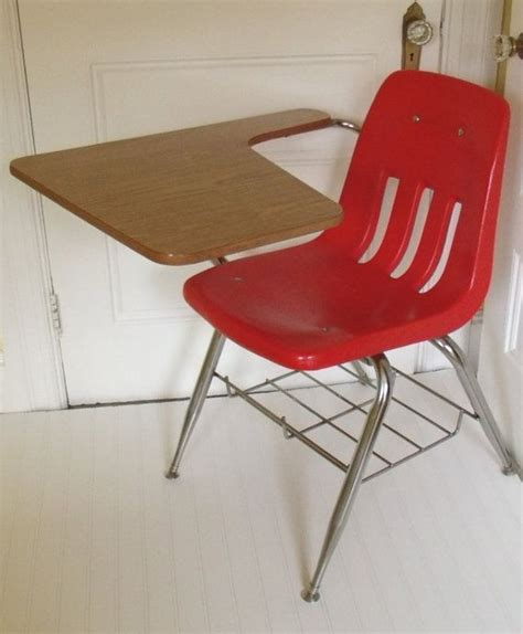 mid century virco arm chair desk vintage by