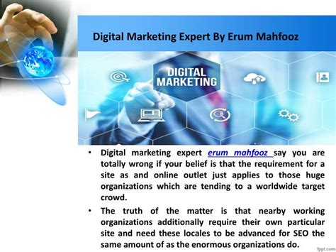 Marketing Expert by Ppt How Local Seo Will Grow Your Business Erum Mahfooz