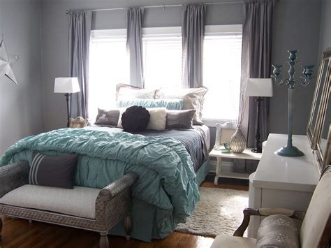 Turquoise And Grey Bedroom, Aqua And Gray Bedroom Teal
