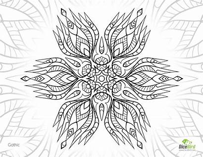 Gothic Coloring Designlooter 3kb 2376 1280 Drawings