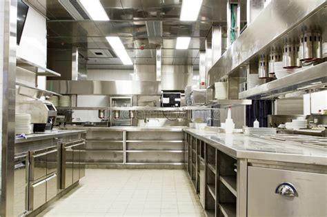 fast food kitchen design επαγγελματική κουζίνα μετρητής άποψης στο χάλυβα στοκ 7173