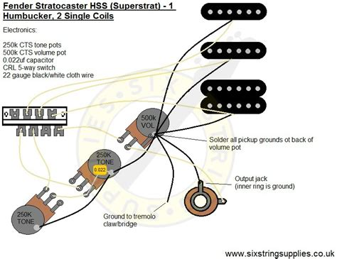 Humbucker Wire Diagram by Strat Wiring Diagram Humbucker 2 Single Coils