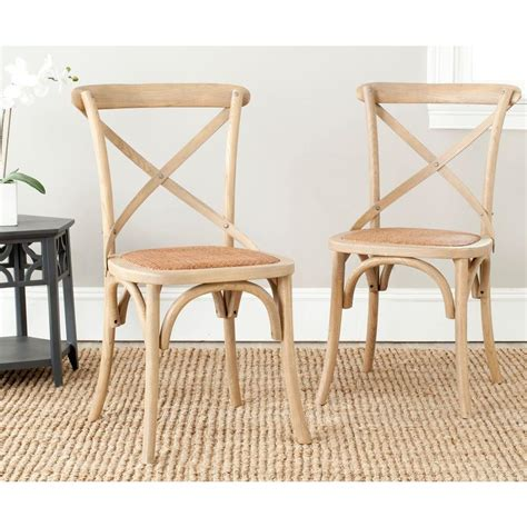 Safavieh Dining Chair by Safavieh Franklin Weathered Oak Rattan X Back Dining Chair