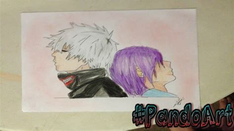 Como dibujar a kaneki y touka How to draw Kaneki and