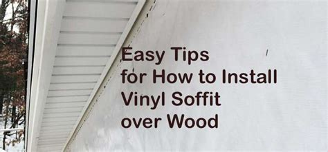 install vinyl soffit  wood easy tips