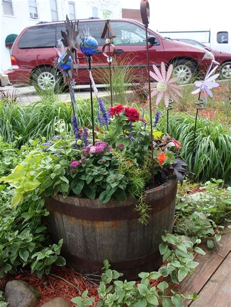 wine barrel planter ideas 77 best images about whiskey barrel idea on
