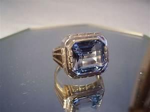 Pierre Precieuse Bleue : bague art d co avec grosse pierre pr cieuse bleue catawiki ~ Melissatoandfro.com Idées de Décoration