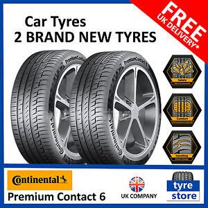 continental premium contact 6 225 45 r17 2x new 225 45 17 continental premium contact 6 91y 225 45r17 2254517 2 tyres ebay