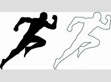 Athletic icons outline silhouette style design Free vector