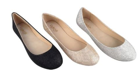 shiny glitter ballet flats group pins shoe boots