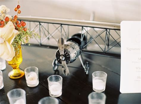 airplane hangar wedding  wed