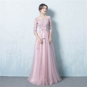 online buy wholesale long sleeve prom dresses from china With robe longue rose poudré mariage