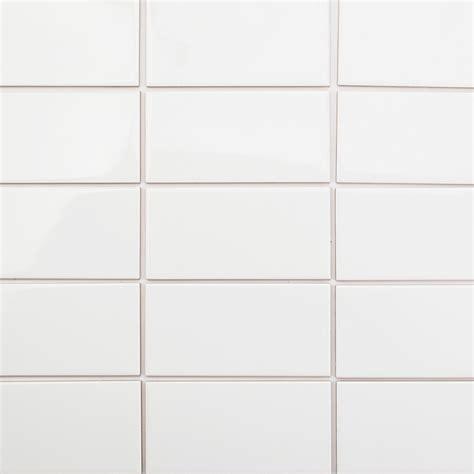 Basic White 3x6 Polished Ceramic Wall Tile Tilebarcom