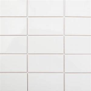 Basic White X Ceramic Tile TileBar Tile White Floor In ...