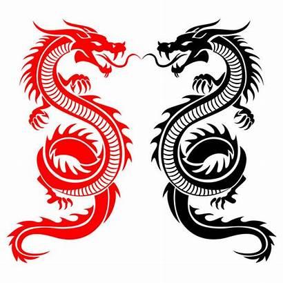Dragon Tail Clip Vector Tattoo Tribal Illustrations