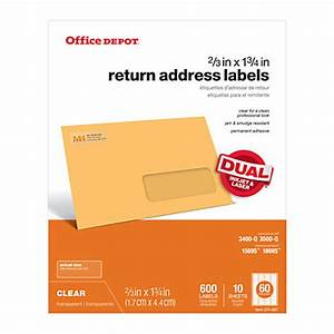 office depot brand clear inkjetlaser address labels 23 x 1 With does office depot print labels
