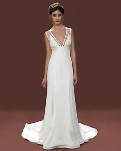 Vintage style wedding dresses london 1930s empire line for Empire style wedding dress