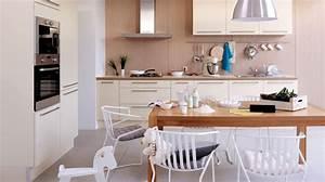 Cuisine Bois Et Blanc : cuisine bois clair et blanc le bois chez vous ~ Dailycaller-alerts.com Idées de Décoration
