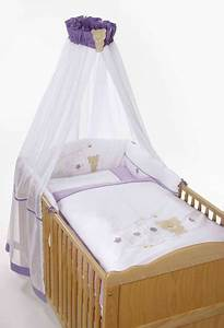 Baby Bettwäsche Set Mit Himmel : easy baby bettset honey bear lila ~ Frokenaadalensverden.com Haus und Dekorationen