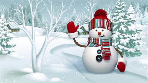 Animated Snowman Wallpaper - 3d snowman animated greeting card winter