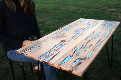 how to make a resin table top make your own glowing furniture diy glow in the dark