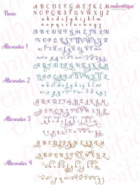 buttercup calligraphy monogram alphabet medium  alternates included