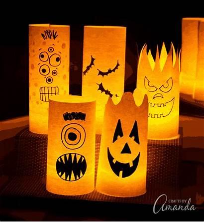Halloween Paper Luminaries Own Craft Pattern Draw