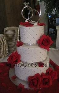 Red Silver White Round Wedding Cakes Photos & Pictures ...
