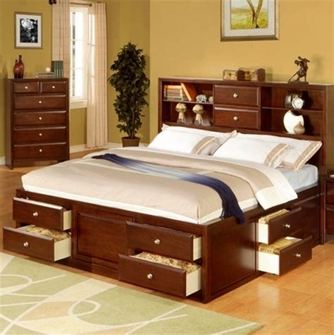 build king size captains bed woodworking projects plans