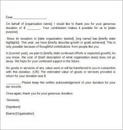 Thank You Donation Letter Sample