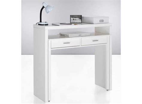 bureau console blanc console bureau sisko le deco tendency
