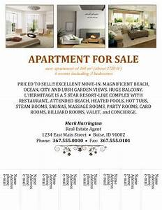 14 free flyers for real estate sell rent With apartment rental flyer template