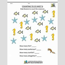 Kindergarten Counting Worksheets