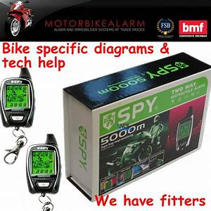 Spy 5000 Motorbike Motorcycle Alarm  U0026 Immobiliser 2 Way Lcd Pager Remote Start