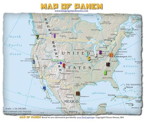 hunger games lessons  updated map  panem  hunger