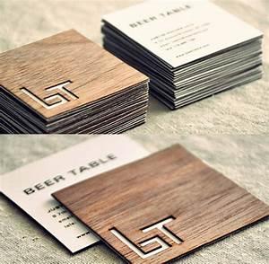 A Collection of Creative Wooden Business Cards Naldz