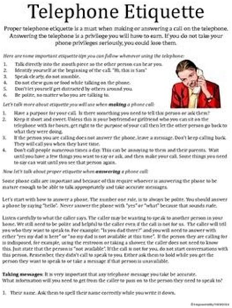 resume skills phone etiquette skills telephone etiquette the o jays worksheets and messages