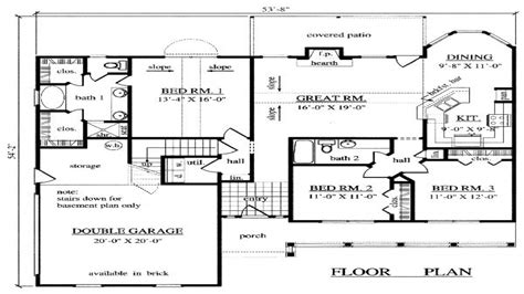 Home Design 1500 Sq Ft : 1500 Square Foot Ranch Plans