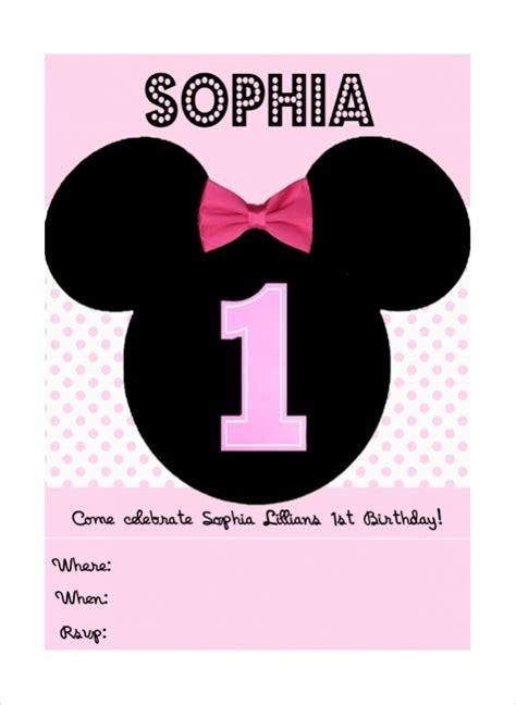 cute minnie mouse invitation design psd vector eps