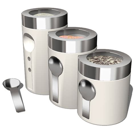 kitchen canister sets stainless steel kitchen accesories 02 3d model formfonts 3d models