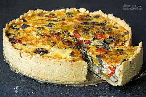 ad hoc cuisine ratatouille quiche gemüsekuchen madame cuisine