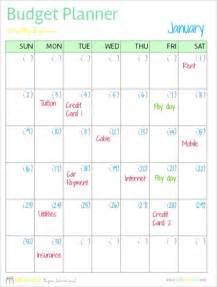 Free Printable Budget Calendar