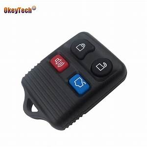 OkeyTech 4 Button Replacement Remote Control Key Shell for Ford Focus Escape Mustang Thunderbird ...