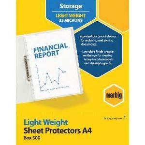 marbig sheet protector a4 light weight 300 officeworks