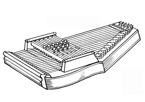 coloring page autoharp img  images
