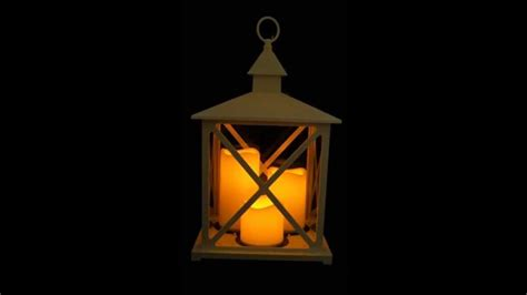 Lanterne Candele by Lanterna Natalizia Con 3 Candele Led