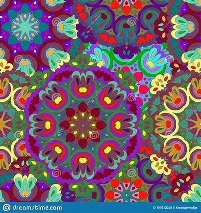 Pattern Mandala Colorful Fills Textures Seamless Surface