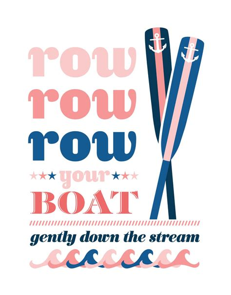 Row The Boat Motto by Row Row Row Your Boat Preppy Nursery 11 X 14